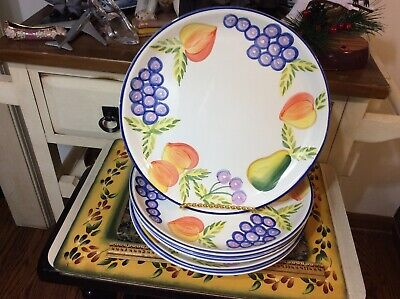Set of 6 Artists Touch Heritage Mint Orchard Jubilee 10 1/4