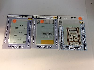 """Set of 3 mixed N scale """"Microscale Decals"""" sets (set 4)"""