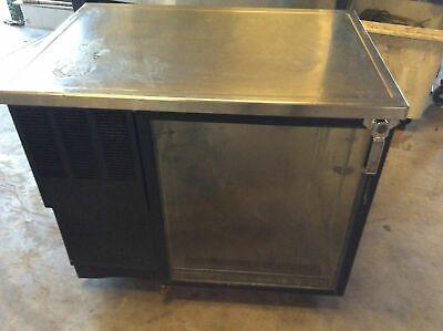 Glastender Lp36-gsl Single Door Low Profile Back Bar Cooler Self-contained