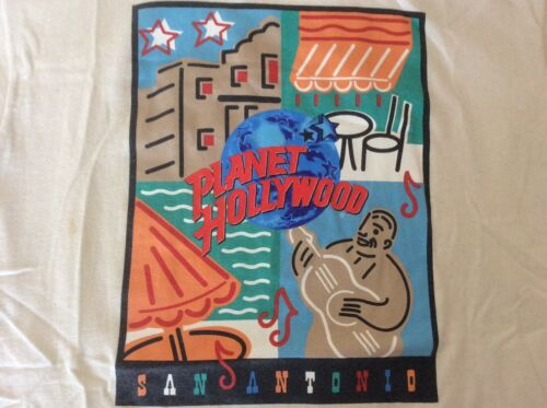 Planet Hollywood VTG NWOT San Antonio Graphic T Shirt Mens Size Medium
