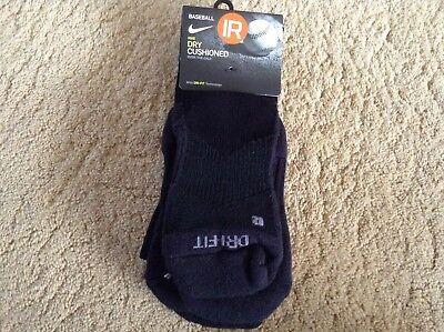 Nike Baseball Dry Cushioned OTC Socks Black 1 Pr SX4810-005 Small Medium Large