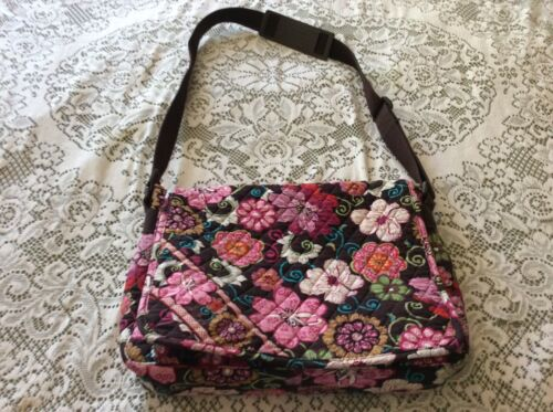 Vera Bradley Soft Laptop Briefcase Carrying Case Mod Floral Pink-Brown