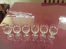 Set of 6 bohemian crystal port or sherry glasses Kings Langley Blacktown Area Preview