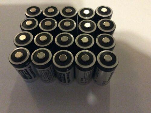 Panasonic CR123A Industrial 3V Lithium Batteries Bulk Exp 2027~2028 (Lot of 20)