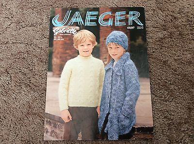Vintage Jaeger children's sweater, coat, hat and mitts knitting pattern