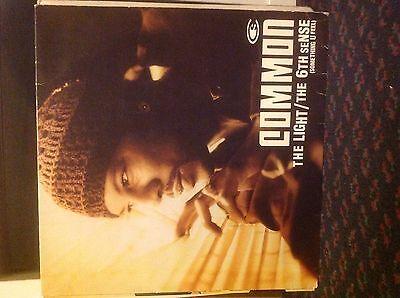 "Common- The Light/ 6th Sense(Something U Feel) 12"" Vinyl Hip Hop MCA J Dilla"