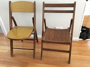 2 fold up timber chairs - Maroubra pickup Maroubra Eastern Suburbs Preview