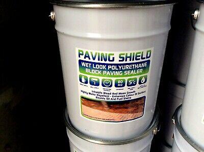 wet look driveway sealer block paving-patio sealant 20litres polyurethane