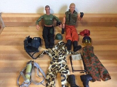 2 Vintage GI Joes and Accessories