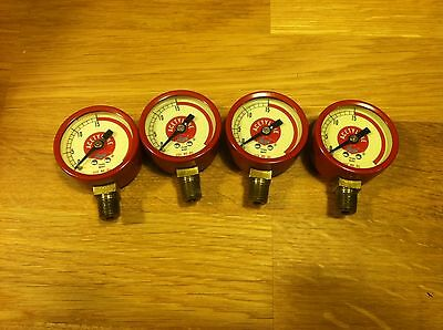 Marsh Acetylene Regulator Replacement Gauges Lot Of 4 1 12 Dia 18 Npt