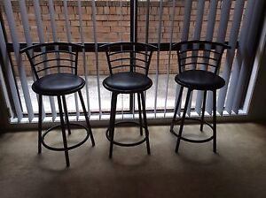 Black swinging bar stools Cordeaux Heights Wollongong Area Preview