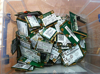 Job Lot of 50 various Laptop PCI Wi-Fi Wifi Wireless cards HP Dell Toshiba Sony