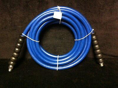 Blue Non-marking Pressure Washer Hose 38 I.d. X 25ft 4000 Psi Cpld Mpt X Ms