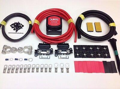 5mtr Professional Split Charge Relay Kit 12v 140amp Durite Voltage Sense Relay