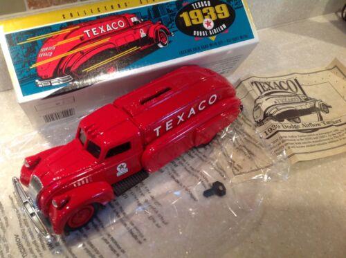 1939 Dodge Airflow Texaco Truck Die Cast Locking Coin Bank ERTL (1993) MIB