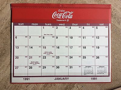 Vintage Coke Desk Calendar 1991 New Old Stock