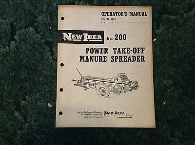 S-182 - Is A New Original Operators Manual For A New Idea No.200 Manure Spreader