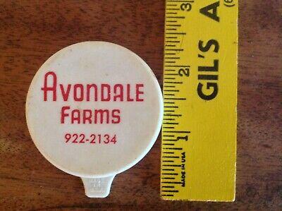 Vintage plastic Avondale Milk Bottle Cap