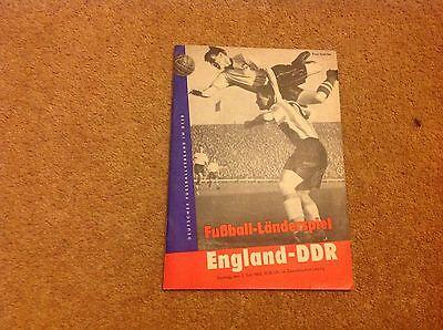 DDR v England  1963 Friendly in Leipzig