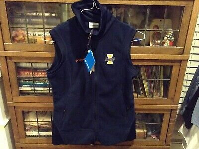 NWT University of Illinois Columbia Fleece Full-Zip Blue Embroidered Best SZ