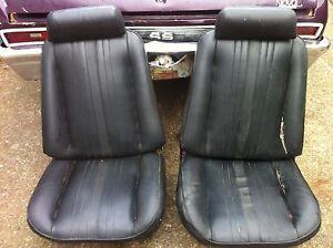 1969 1970 Chevy Ii Nova Ss Super Sport Bucket Seats Tracks Amp Headrests