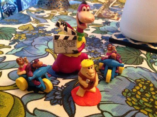 Vintage 1991 Flintstones Hollyrock Dino Barney Pebbles McDonalds Toy Figure Set
