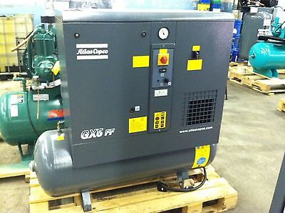 Atlas Copco GX5FF rotary mishandle air compressor with dryer