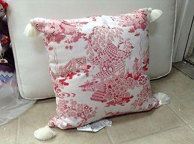 Frontgate Outdoor Patio Shen Garden Chambray Chair Sofa Throw Pillow 20x20 New - Frontgate Garden Chair