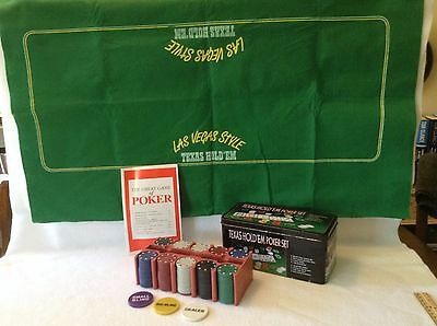 Texas Hold'em Poker Set in Metal Box