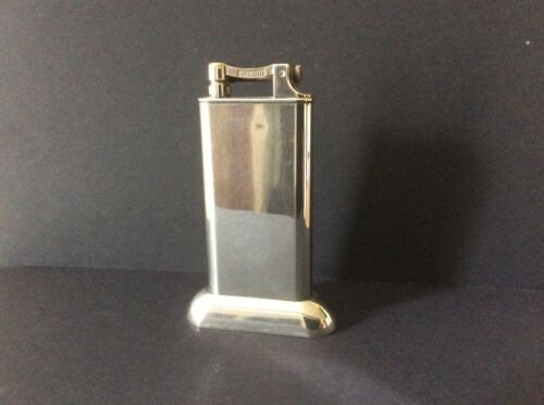 ANTIQUE VINTAGE DUNHILL SILVER PLATED ART DECO TABLE LIGHTER.