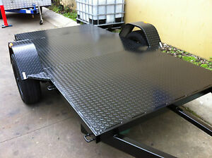 Trailer -quad  bike 10X5 FT HEAVY DUTY CHEQUER PLATE AUSTRALIAN MADE QUALITY