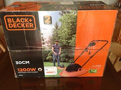 Black And Decker 30cm 1200w Lawn Mower Still Boxed use once  like flymo