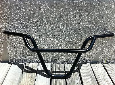 BICYCLE FREE STYLE BLACK or CHROME HANDLEBAR PRETZEL 22.2MM BMX CRUISER CYCLING