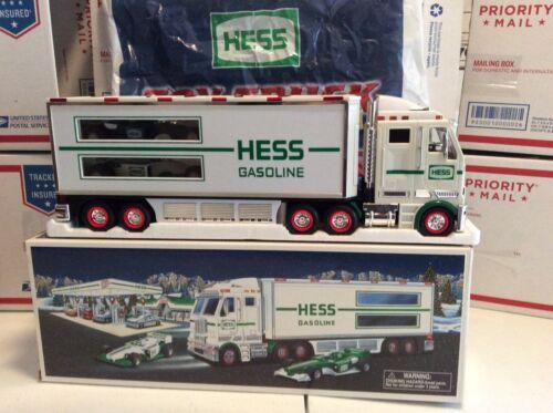 2003 Hess Toy Truck and Racecars  Original BoxAnd Original Bag.