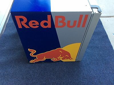 Red Bull Refrigerator Mini Fridge Cooler 100% Working MAN CAVE BEER