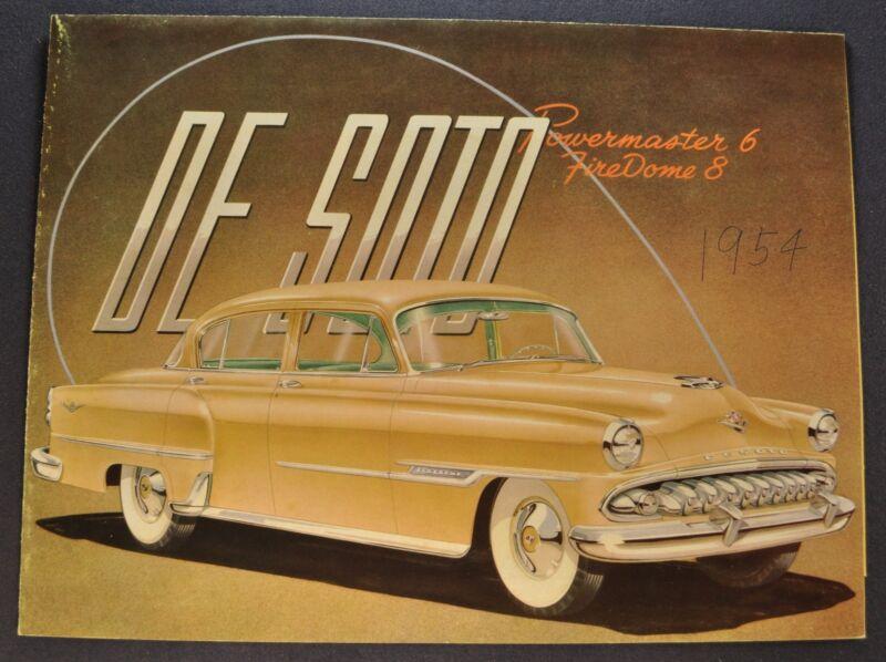 1954 DeSoto Firedome 8 Powermaster 6 Brochure Folder Export Market Nice Original