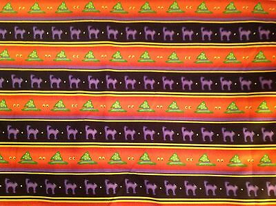 Halloween Hats For Cats (Halloween Cats & Hats Rows Fabric By the)