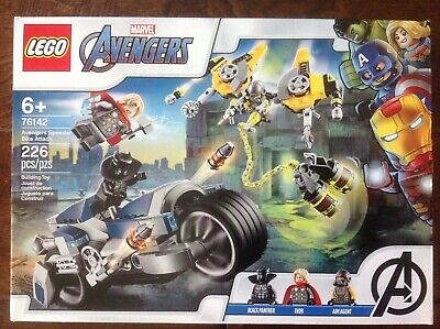 New LEGO 76142 Marvel Avengers Speeder Bike Attack Black Panther Thor Set Toy