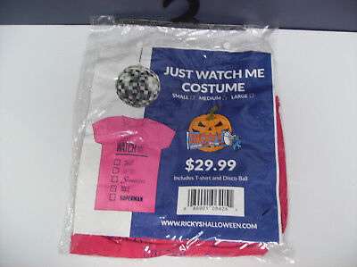 JUST WATCH ME T-SHIRT DISCO BALL WOMEN HALLOWEEN COSTUME MEDIUM