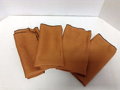 6 Burnt Orange Kitchen Dinner Table Cloth Napkins Fall Halloween Autumn 18x18 (Halloween Cloth Napkins)
