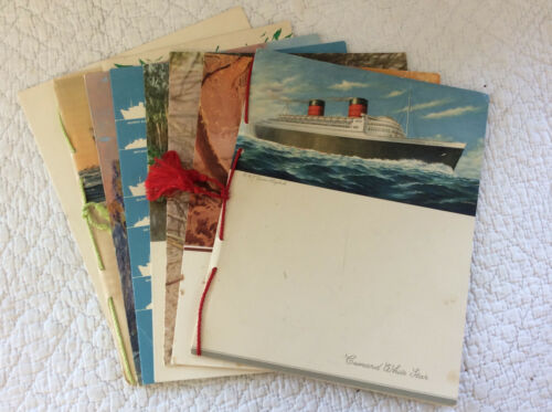SET OF 1952 MENUS FROM THE QUEEN MARY & THE QUEEN ELIZABETH