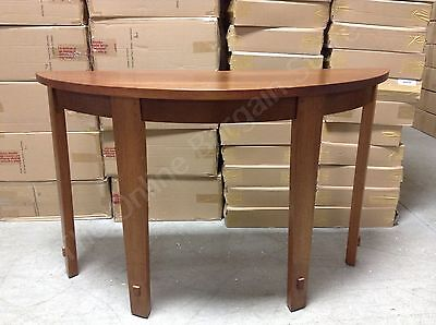 Pottery Barn Half moon foyer Henry wood entryway console hall accent -