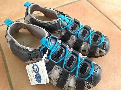 GEOX Kinder Sandalen Schuhe Sommer atmungsaktiv leicht Größe 35 blau grau NEU