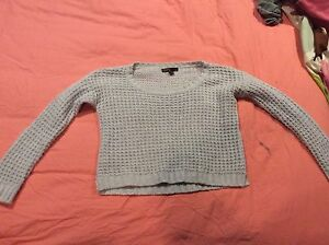 knit sweater light blue