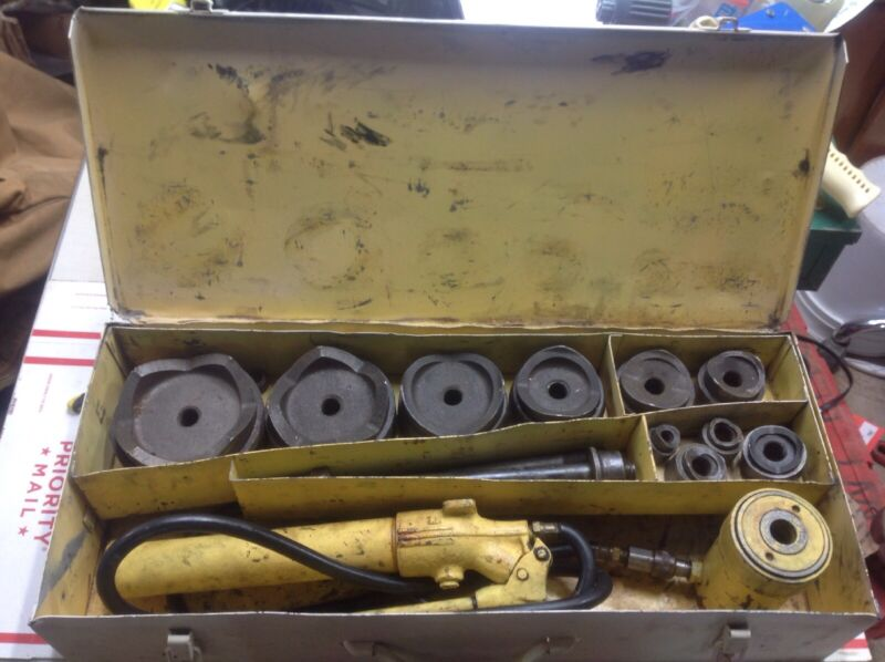 """Enerpac SP62 1/2""""-4"""" HYDRAULIC KNOCKOUT PUNCH SET #3000"""