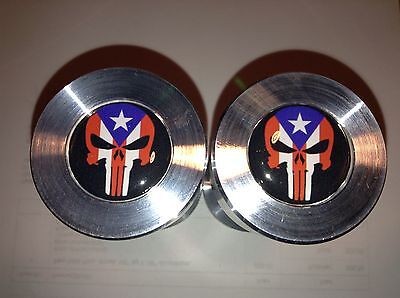 Two Hole Pins Standard Size. Punisher Puerto Rico Flag 12 To 1-58