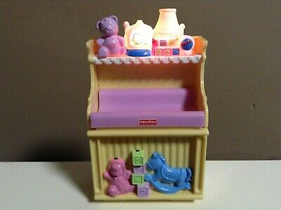 LOVING FAMILY BABY CHANGING TABLE DOLLHOUSE NURSERY FURNITURE MUSIC LIGHTS