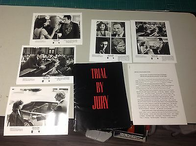OOP! Movie Press Kit TRIAL BY JURY Film 8x10 photo mini posters no dvd!!