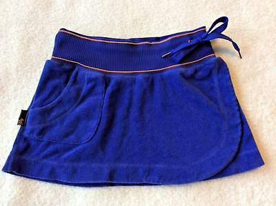 - Flaw Rocawear Skirt Size S Small Mini Wrap Short Blue Terry Swim Cover Lounge