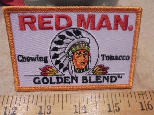 REDMAN GOLDEN BLEND CHEWING TOBACCO IRON-ON PATCH-NEW